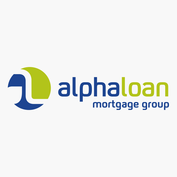 Alpha Loan Mortgage Group Logo Design