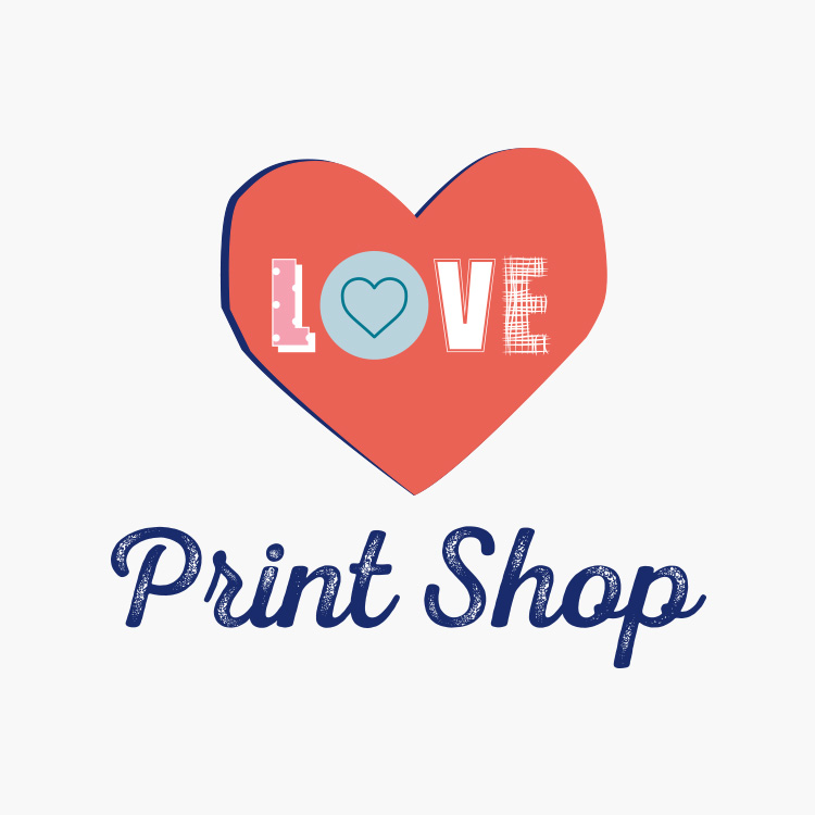 Love Print Shop Logo Design