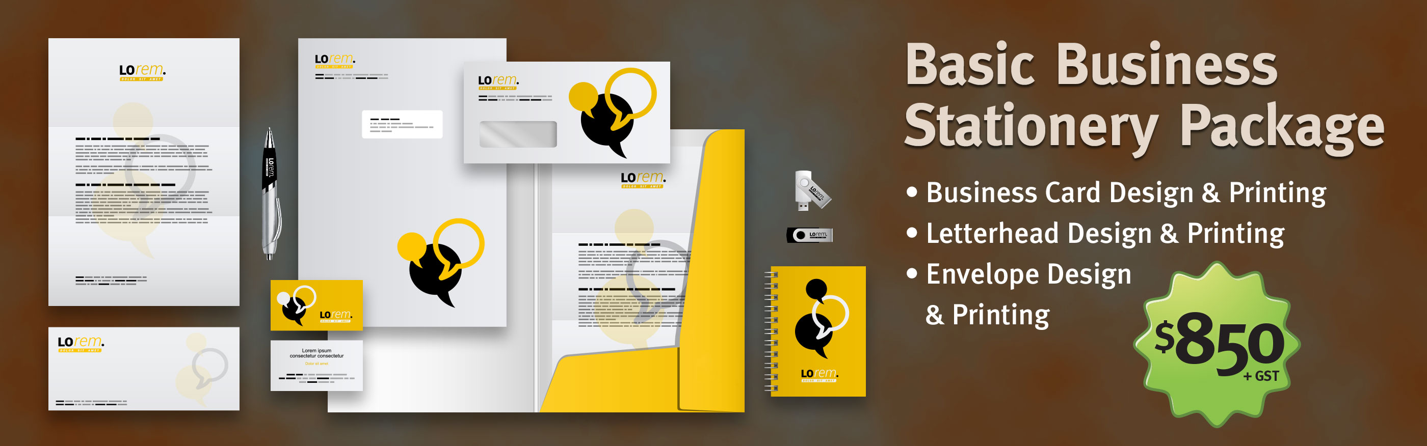 Business stationery design melbourne lime virtual studio basic business stationery design printing package reheart Image collections