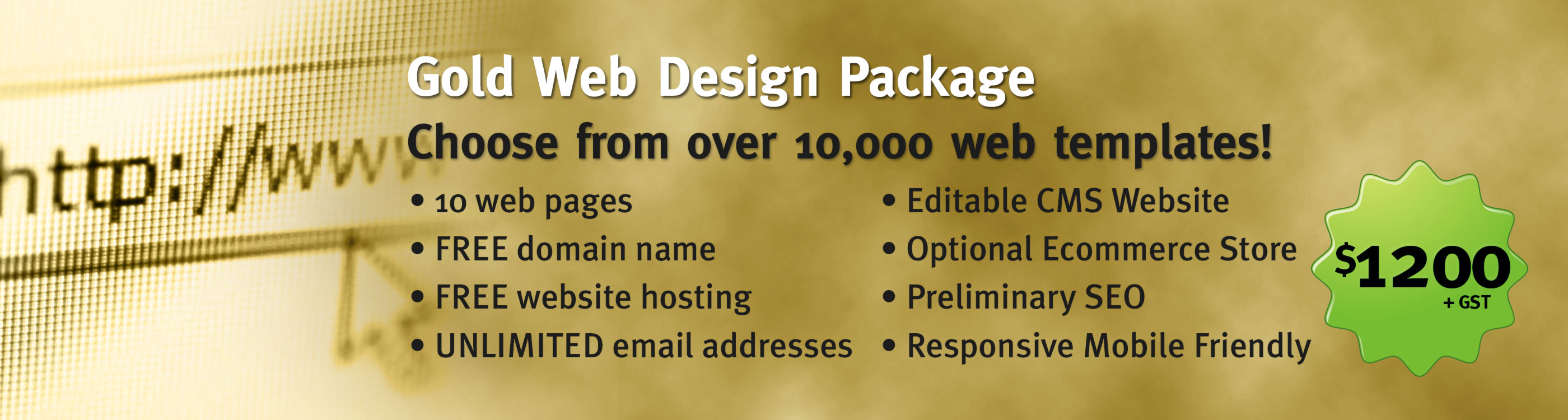Gold Website Design Package
